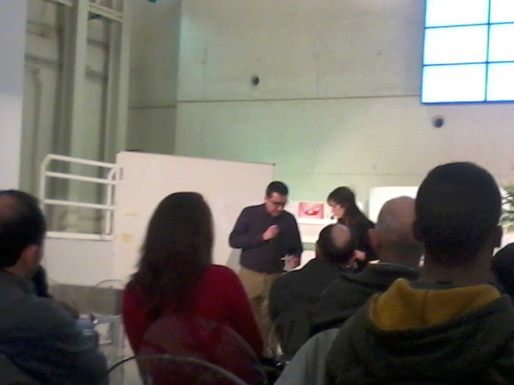 Gabriel y Delia, al final de la sesión