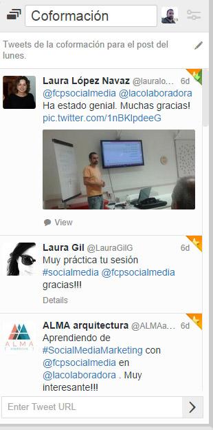 colecciones en tweetdeck