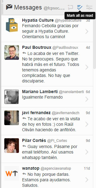 columna messages tweetdeck