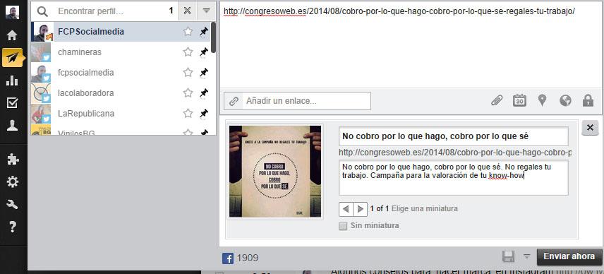 facebook programar publicaciones