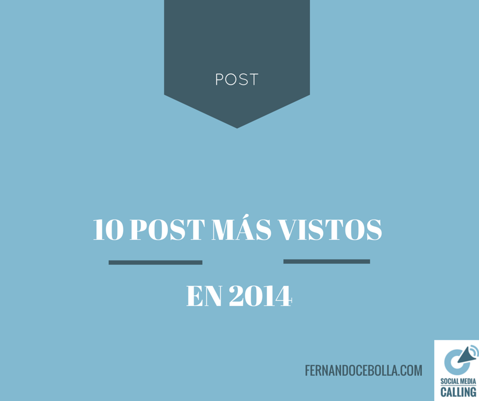 Los 10 post m s vistos en el blog en 2014 - Los videos mas vistos ...
