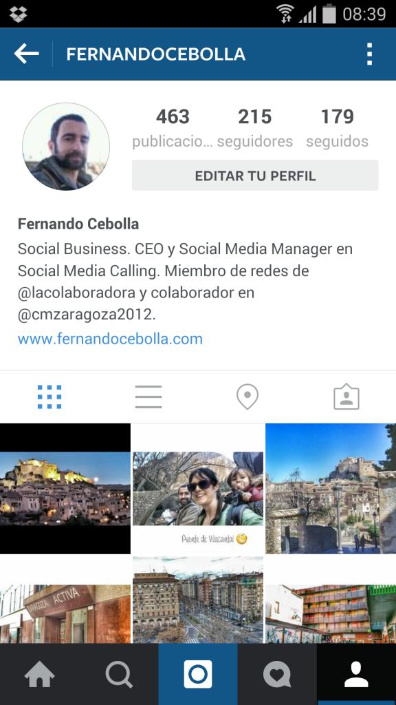 Tu perfil en Instagram