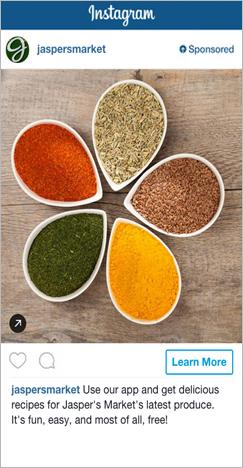 publicidad instagram anuncio cuadrado