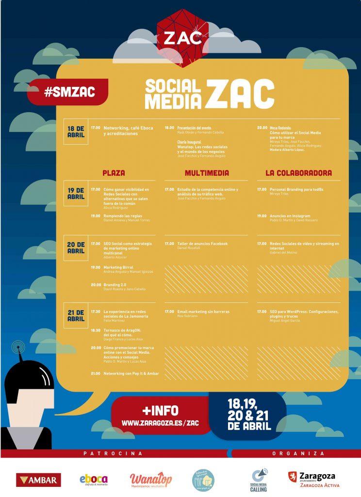 smZAC formación gratuita Social Media en Zaragoza programa