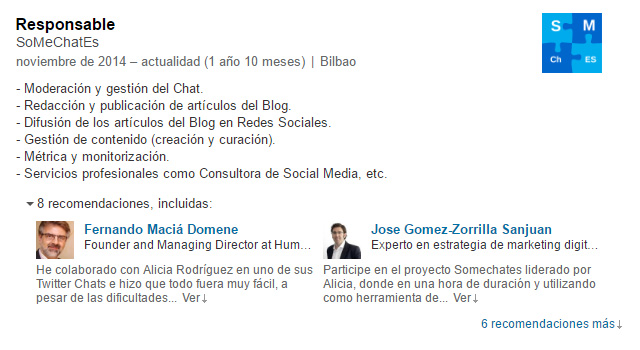 Piensa en local linkedin público