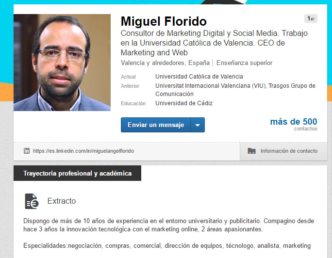 Las palabras clave en LinkedIn LinkedIn como un profesional