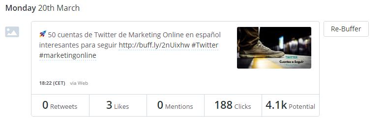 buffer atarer tráfico a tu blog con twitter