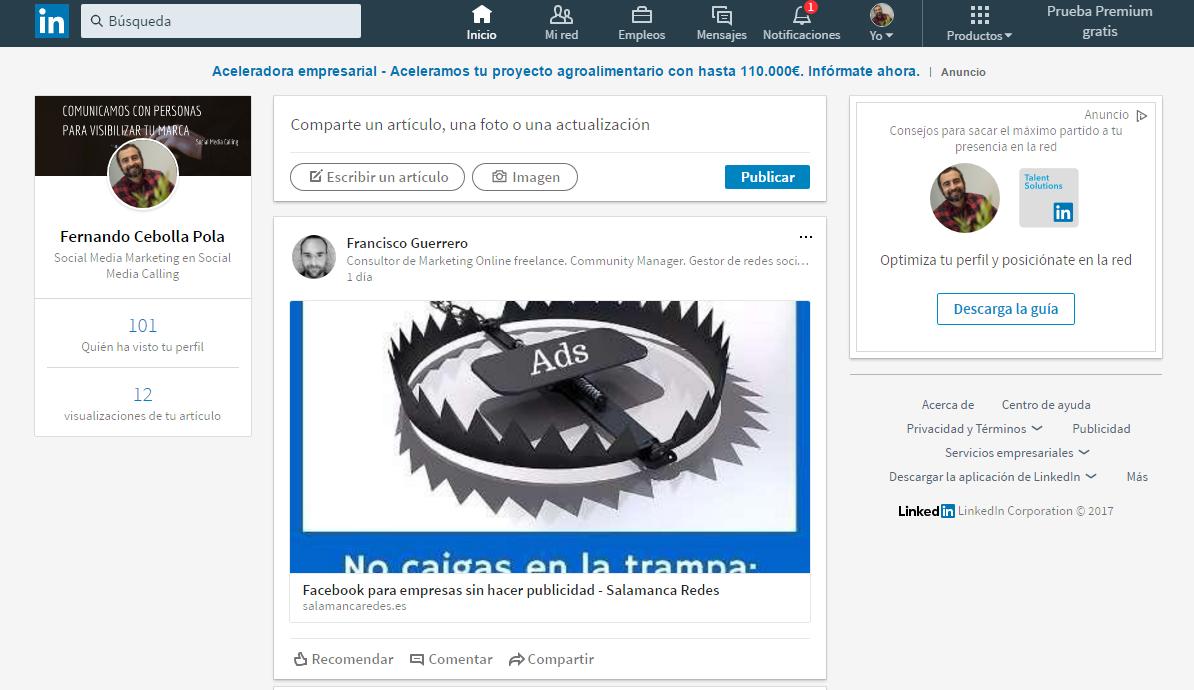 Cómo hacer un buen perfil en LinkedIn en 2017: configuración total