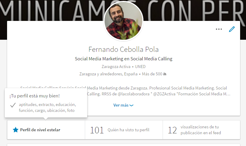 tu perfil en LinkedIn