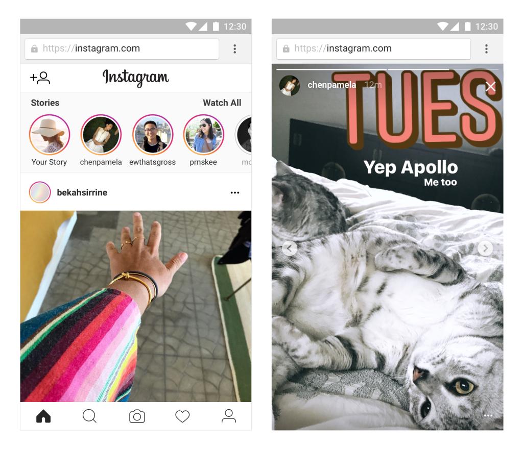 instagram stories en web