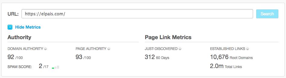 moz indexarpáginas en google