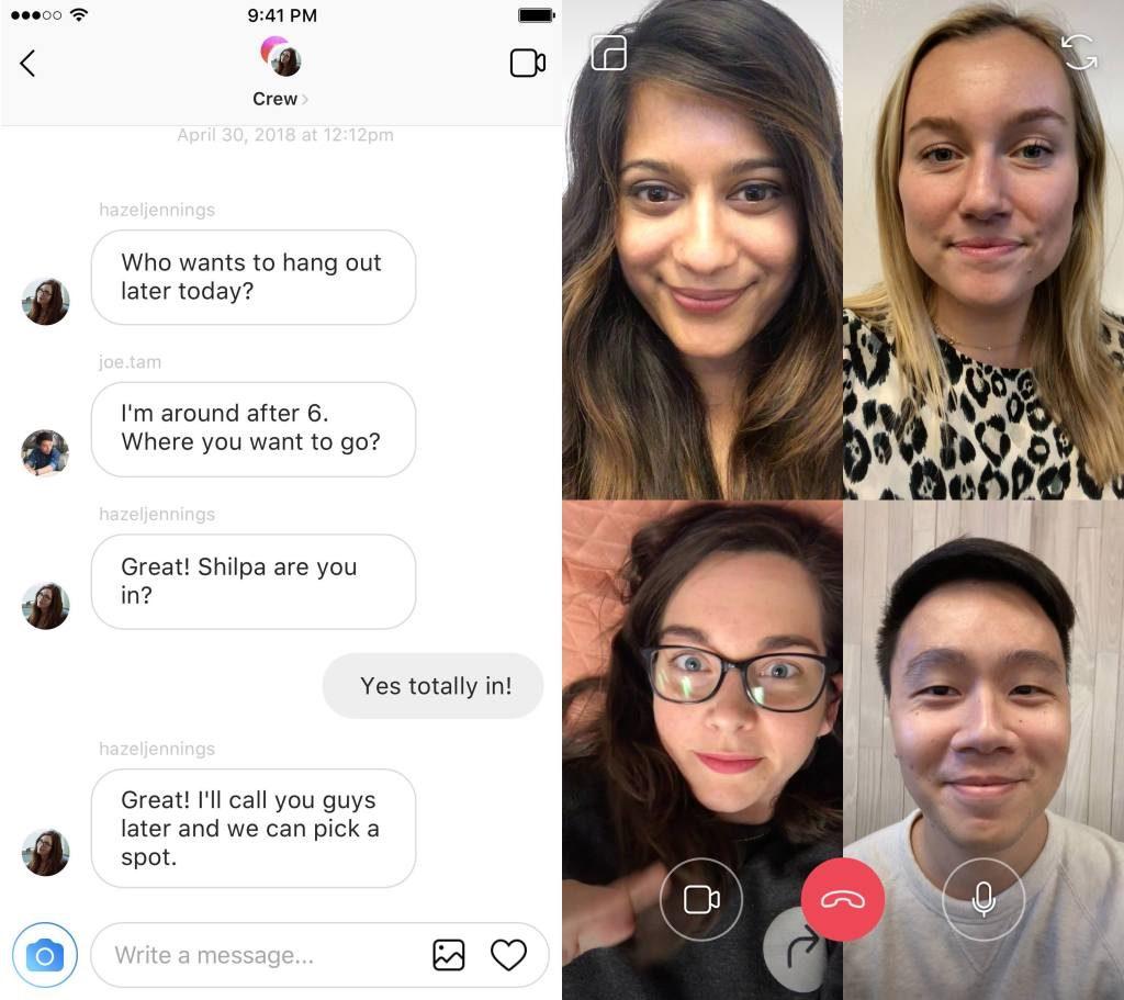 videochat en instagram