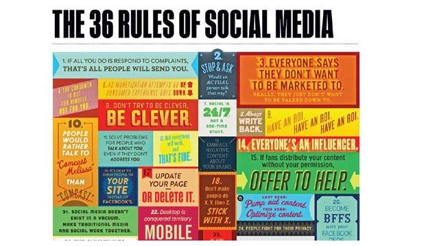 reglas del social media