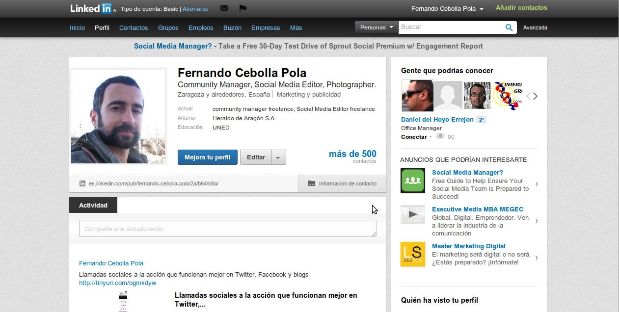 Fernando Cebolla Pola en LinkedIn