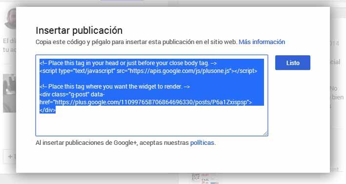 embeber googlemas codigo
