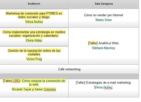 congreso-web-zaragoza-2014-calendario