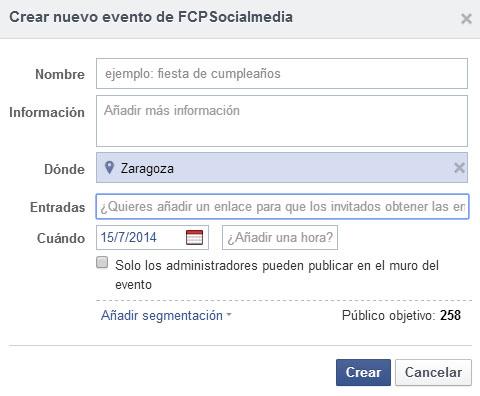 facebook entradas