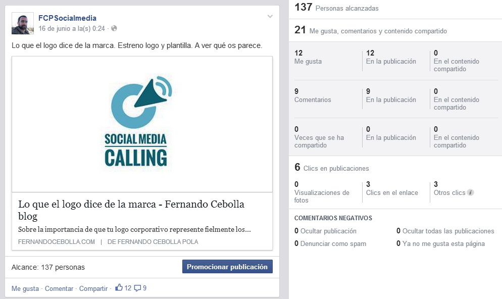 facebook publicacion