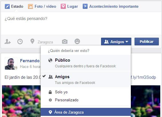 facebook publicar segmentado
