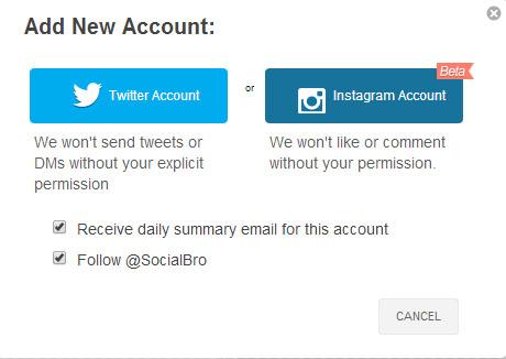 socialbro cuentas