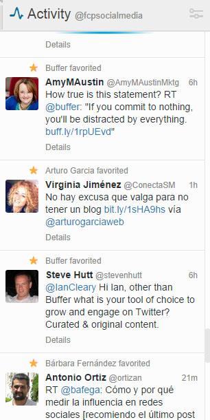 columna actividad tweetdeck