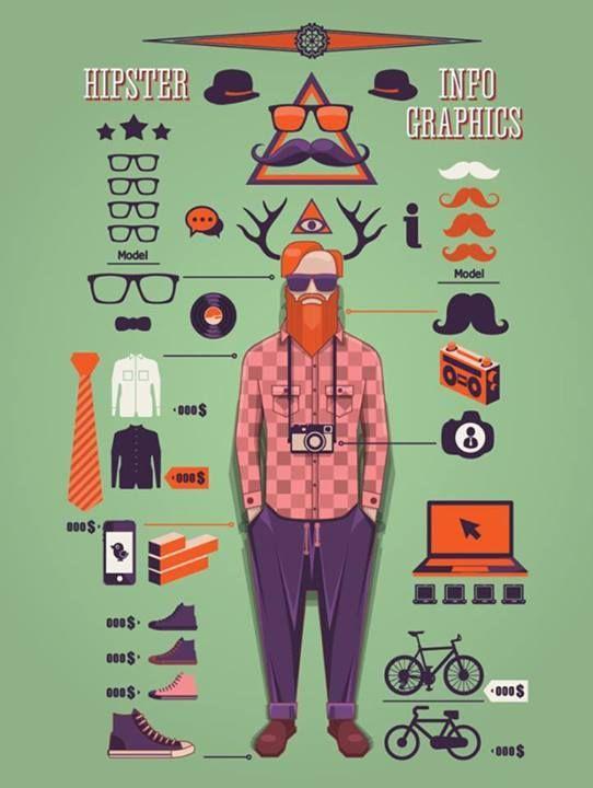 hipster infografía