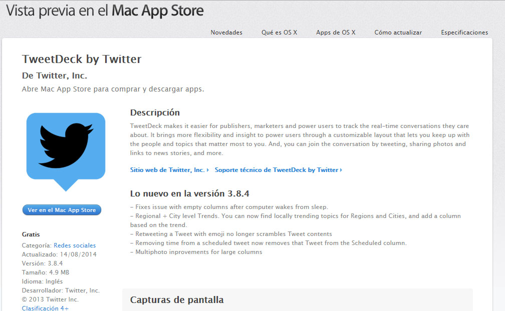 mac tweetdeck