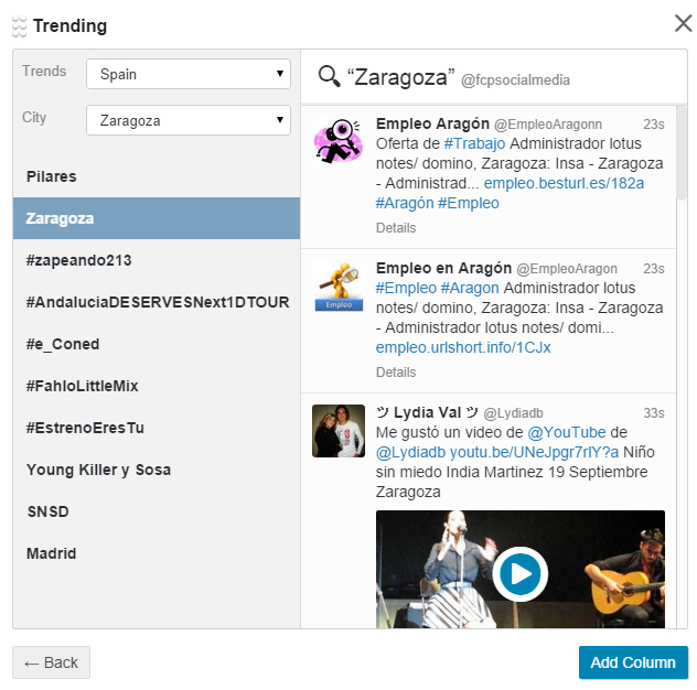 tendencias tweetdeck