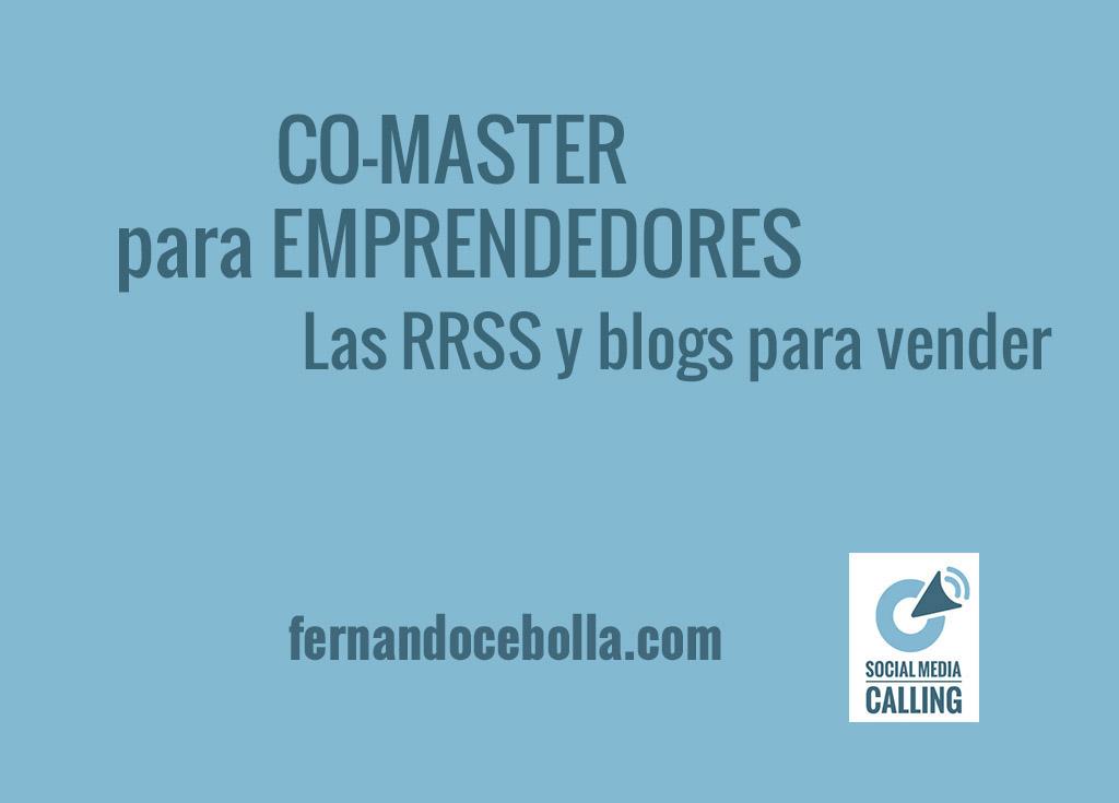 CO-MASTER para emprendedores – Redes sociales y blogs para vender (4 DIC)