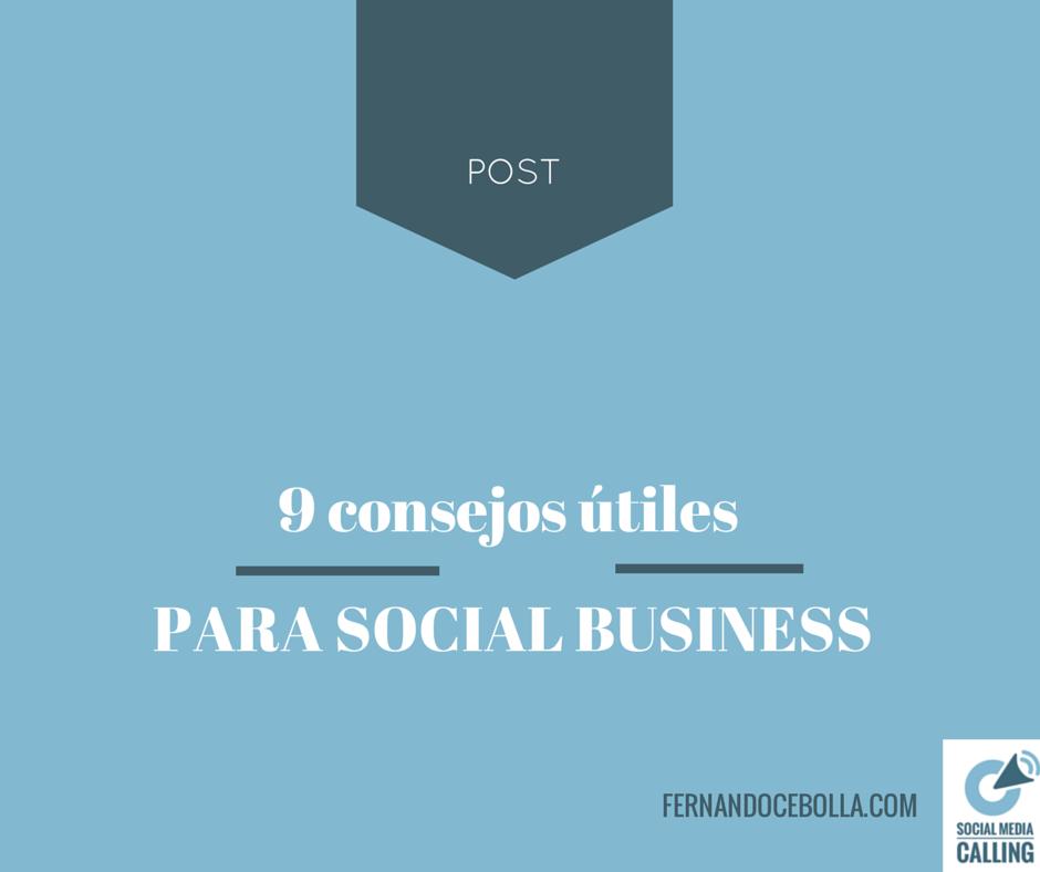 9 consejos útiles para Social Business