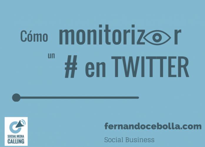 como monitorizar un evento en twitter