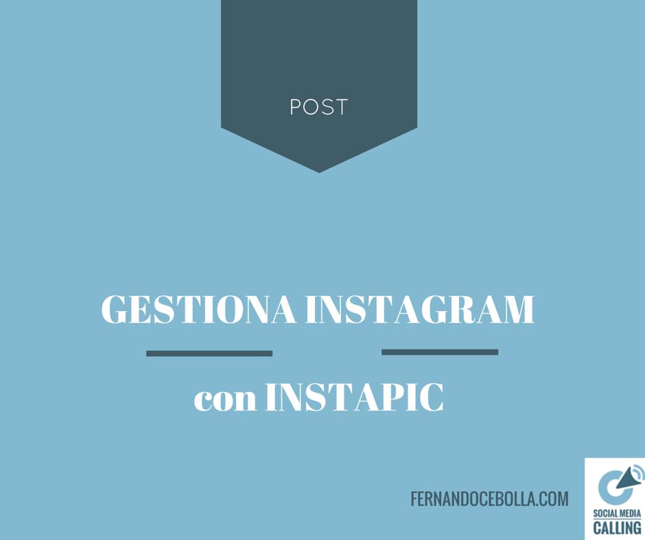 Gestiona varias cuentas de Instagram con InstaPic