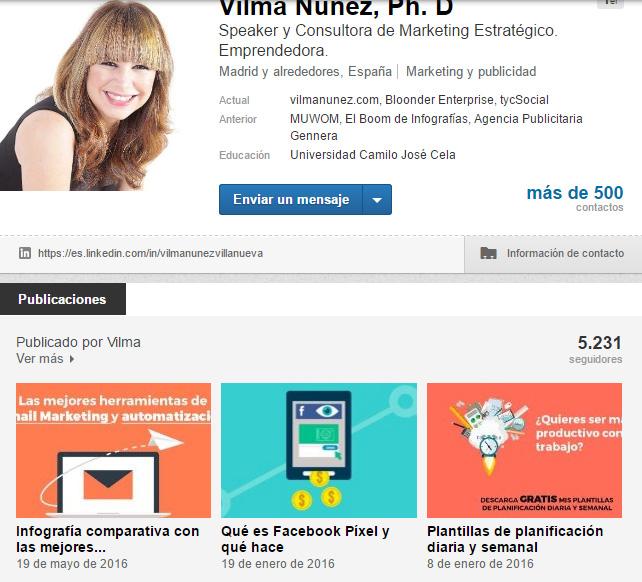 publicaciones en linkedin LinkedIn como un profesional