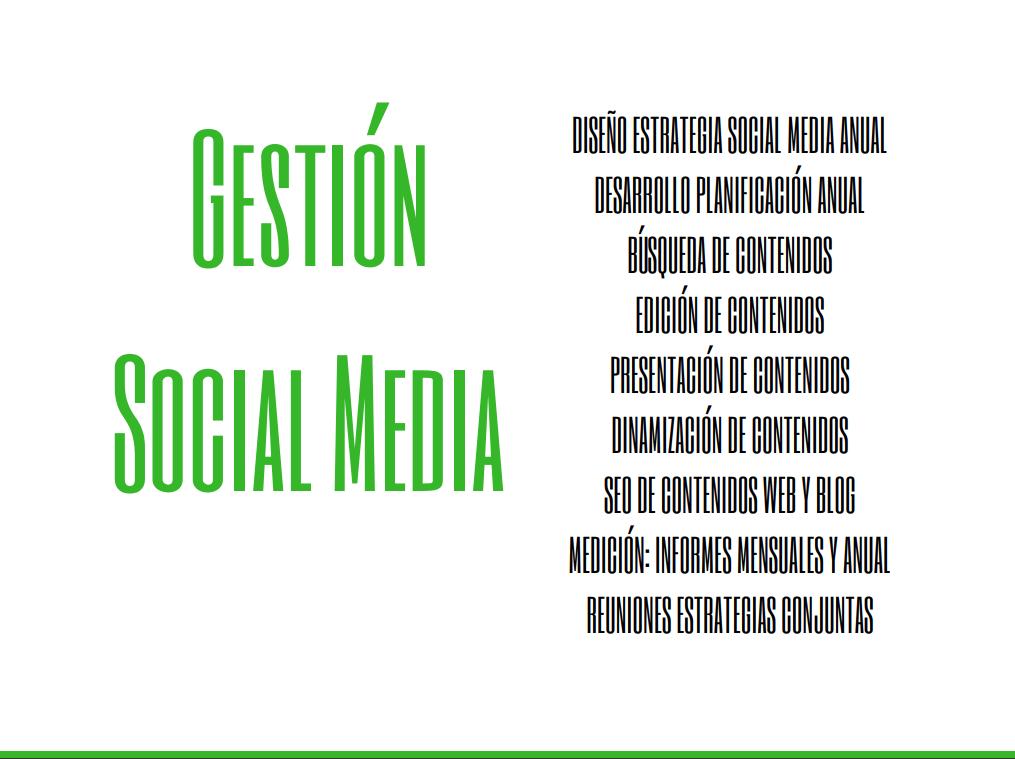 gestion social media propuesta social media