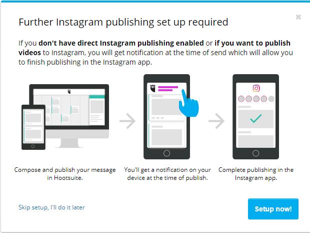 programar videos en instagram con hootsuite